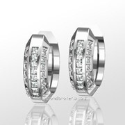 Серьги с бриллиантами E16656-3