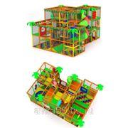 Детский игровой трехэтажный лабиринт. Лесной рай фото