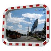 """Дорожное зеркало со светоотражателями """"SATEL"""" прямоугольное 400mm*600mm"""