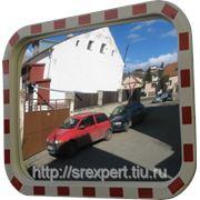 Зеркало дорожное со световозвращающей окантовкой прямоугольное 400х600 фото
