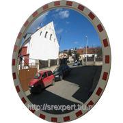 Зеркало дорожное со световозвращающей окантовкой круглое D=600 фото