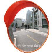 Зеркало дорожное круглое с защитным козырьком D=600мм фото