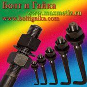 Болт фундаментный изогнутый тип 1.1 (шпилька 1.) М20Х500 ст.09г2с ГОСТ 24379.1-80 (масса шпильки 1,37 кг.) фото
