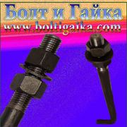 Болт фундаментный изогнутый тип 1.1 М42х1400 (шпилька 1.) Сталь 40х. ГОСТ 24379.1-80 (масса шпильки 16.47 кг.) фото