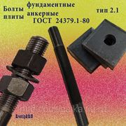 Болты фундаментные с анкерной плитой тип 2.1 м42х1250 (шпилька 3) Ст3 ГОСТ 24379.1-80 (масса шпильки 13.59 кг) фото