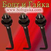 Болт фундаментный изогнутый тип 1.1 М36х2000 (шпилька 1.) Сталь 40х. ГОСТ 24379.1-80 (масса шпильки 16.73 кг. ) фото