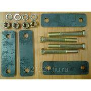 Серьга рессоры УСИЛЕННАЯ 8 мм (4 болта + 4 щеки) фото