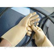 Перчатки диэлектрические без шва (латекс) фото