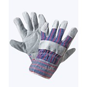 Перчатки Ангара, спилковые, комбинированные фото