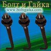 Болт фундаментный изогнутый тип 1.1 М42х900 (шпилька 1.) Сталь 09г2с. ГОСТ 24379.1-80 (масса шпильки 11.03 кг. ) фото