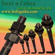 Болт фундаментный изогнутый тип 1.1 М30х710 (шпилька 1.) Сталь 35. ГОСТ 24379.1-80 (масса шпильки 4.38 кг. ) фото