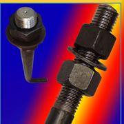 Болт фундаментный изогнутый тип 1.1 М42х1600 (шпилька 1.) Сталь 45. ГОСТ 24379.1-80 (масса шпильки 18.64 кг. ) фото