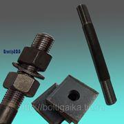 Болты фундаментные с анкерной плитой тип 2.1 м42х600 (шпилька 3) Ст3 ГОСТ 24379.1-80 (масса шпильки 6.52 кг) фото