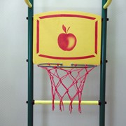 Кольцо баскетбольное с деревянным щитом фото