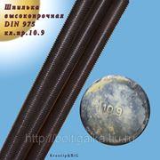 Шпилька резьбовая высокопрочная м24х1000 класс прочности 10.9 фото