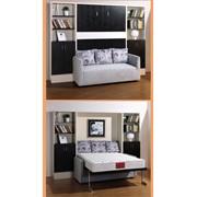 Механизм шкаф кровати вертикальный 150см. с полкой для установки с диваном фото