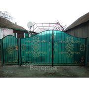 Ворота ажурные фото