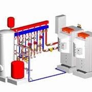 Монтаж строительных отопления фото