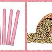Свеча восковая №60 розовая с ароматом аниса фото