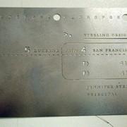 Визитка металлическая фото