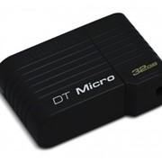 32Gb Data Traveler Micro Kingston USB-флеш накопитель, USB 2.0, DTMCK/32GB, Чёрный