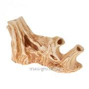 Аквадекор-грот для аквариума Коряга 10х30х18см фото