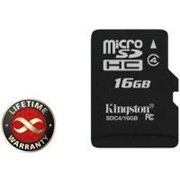 Карта памяти 16Gb microSDHC class 4 Kingston (SDC4/16GBSP) фото