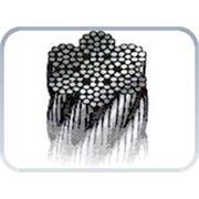 Универсальный стальной канат с сердечником из искусственного волокна iso 2408 диаметр 1 мм. фото