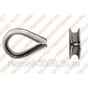 Коуш для стальных канатов DIN 6899 М3 (4шт) пакетик / Коуш для стальных канатов DIN 6899 М3 (уп. 4шт) пакетик