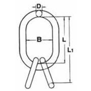 Подъемные кольца с дополнительными кольцами для трех- и четырехветьевых цепных строп NRLI22. фото
