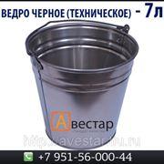 Ведро черное техническое (7 литров) фото