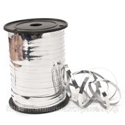 Лента металл серебро, ширина 0,5 см, длинна 250 ярдов. фото