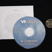 MiniCD диск в бумажном конверте с прозрачным окном фото