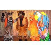 Ростовые куклы: Волк, Медведь, Лиса, Попугай фото