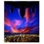 Постер в рамке «Самолет «, формат А4, светится в темноте фото