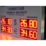 Светодиодное табло Обмен валют фото