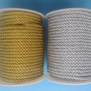 Шнур витой металлизированный 4 мм 1рул - 20м фото