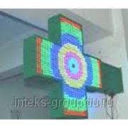 Цветной аптечный светодиодный крест фото