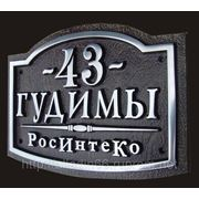 Адресная рельефная табличка Б-380 фото