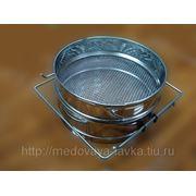 Фильтр для меда диаметр 200 мм н/ж (ровный большой ) фото