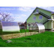 Усиленная теплица из поликарбоната для сада 8 метров (труба 20*20) фото