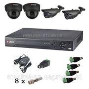 Комплект видеонаблюдения Hikvision DS-J142I 2+2