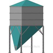 Бункера накопители прямоугольного сечения со смещенным конусом фото