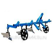 Культиватор для сплошной и междурядной обработки почвы с окучником для минитракторов