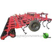 Культиватор для сплошной обработки почвы (усиленная итальянская S-образная стойка 45х12 с подпружинником), комплектация: КПМ-6 фото