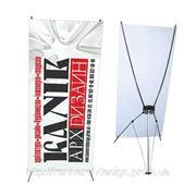 Стенд выставочний мобильный 1,10х2,00 эконом x-banner х-баннер паук фото