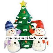 Композиция надувных новогодних фигур фото