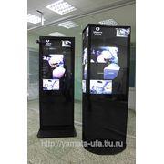 Рекламные экраны (стойки) с монитором и плеером в комплекте фото