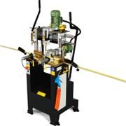 Механический трехфрезный копировально-фрезерный станок для фрезерования отверстий под фурнитуру и ручки в пластиковом ПВХ профиле Kaban DE-4050 фото