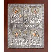Четырехчастная икона Материнство 207х243(мм) фото